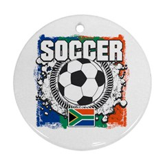 Soccer South Africa Round Ornament (Two Sides)