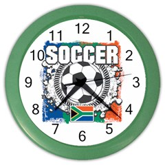 Soccer South Africa Color Wall Clock