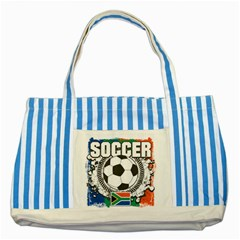 Soccer South Africa Striped Blue Tote Bag
