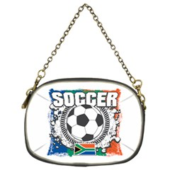Soccer South Africa Chain Purse (two Sides)