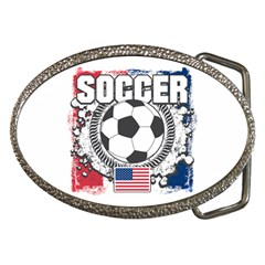 Soccer United States Of America Belt Buckle