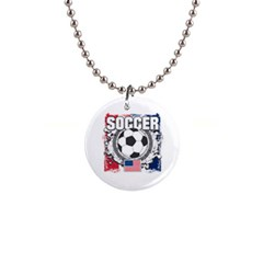 Soccer United States of America 1  Button Necklace