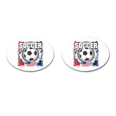 Soccer United States Of America Cufflinks (oval)