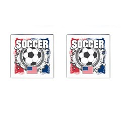 Soccer United States Of America Cufflinks (square)
