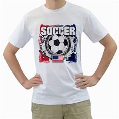 Soccer United States of America Men s T-Shirt (White)