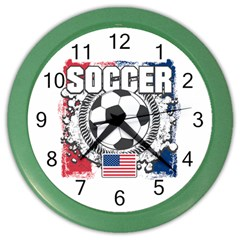 Soccer United States of America Color Wall Clock
