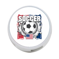 Soccer United States Of America 4 Port Usb Hub (one Side)