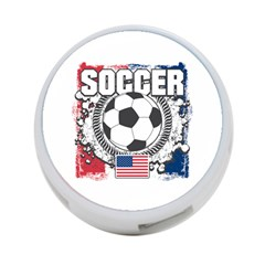 Soccer United States of America 4-Port USB Hub (Two Sides)