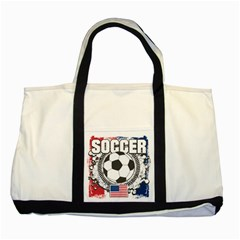 Soccer United States of America Two Tone Tote Bag
