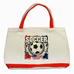 Soccer United States Of America Classic Tote Bag (red)