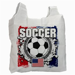 Soccer United States Of America Recycle Bag (two Side)