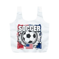 Soccer United States of America Full Print Recycle Bag (M)