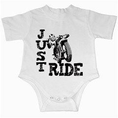 Black Just Ride Motorcycles Infant Creeper