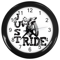 Black Just Ride Motorcycles Wall Clock (Black)