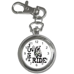 Black Just Ride Motorcycles Key Chain Watch