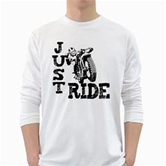 Black Just Ride Motorcycles Long Sleeve T-Shirt
