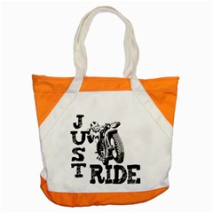 Black Just Ride Motorcycles Accent Tote Bag