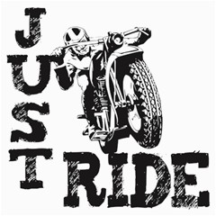 Black Just Ride Motorcycles Canvas 12  X 12