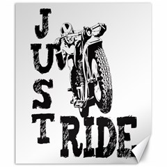Black Just Ride Motorcycles Canvas 20  x 24