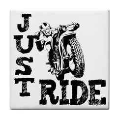 Black Just Ride Motorcycles Face Towel