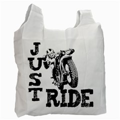 Black Just Ride Motorcycles Recycle Bag (Two Side)