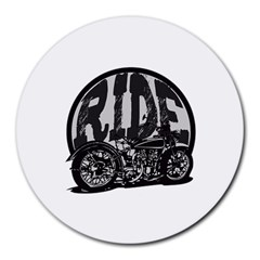 Ride Vintage Motorcycles Round Mousepad