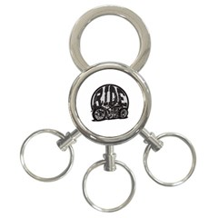 Ride Vintage Motorcycles 3 Ring Key Chain