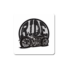Ride Vintage Motorcycles Magnet (Square)
