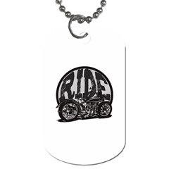 Ride Vintage Motorcycles Dog Tag (One Side)