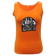 Ride Vintage Motorcycles Women s Dark Tank Top