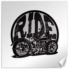 Ride Vintage Motorcycles Canvas 20  x 20