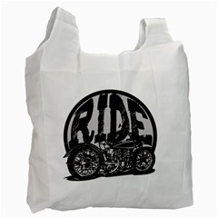 Ride Vintage Motorcycles Recycle Bag (One Side)