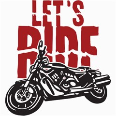 Red Text Let s Ride Motorcycle Canvas 20  X 20