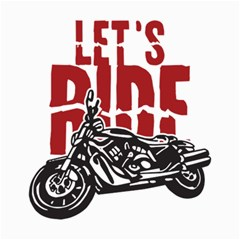 Red Text Let s Ride Motorcycle Canvas 20  X 24