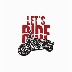Red Text Let s Ride Motorcycle Canvas 24  x 36