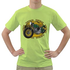 Vintage Style Motorcycle Green T-Shirt