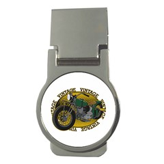 Vintage Style Motorcycle Money Clip (Round)