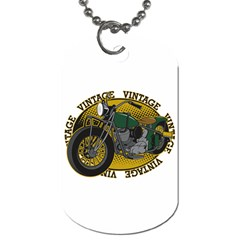 Vintage Style Motorcycle Dog Tag (One Side)