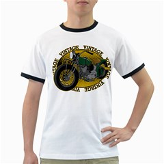 Vintage Style Motorcycle Ringer T