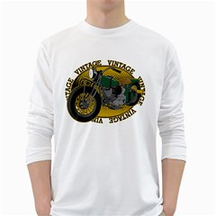 Vintage Style Motorcycle Long Sleeve T Shirt