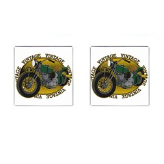 Vintage Style Motorcycle Cufflinks (Square)