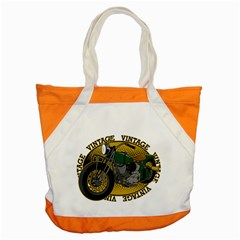 Vintage Style Motorcycle Accent Tote Bag