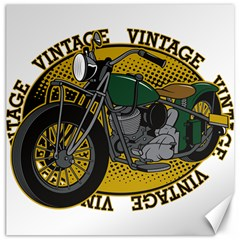Vintage Style Motorcycle Canvas 16  x 16