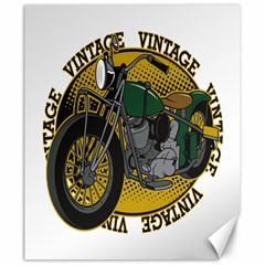 Vintage Style Motorcycle Canvas 20  x 24