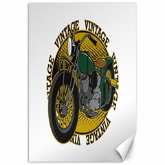 Vintage Style Motorcycle Canvas 20  x 30