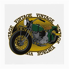 Vintage Style Motorcycle Glasses Cloth (Medium, Two Sides)
