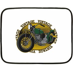 Vintage Style Motorcycle Mini Fleece Blanket(Two Sides)