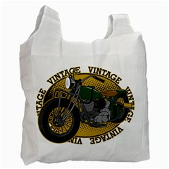 Vintage Style Motorcycle Recycle Bag (one Side)