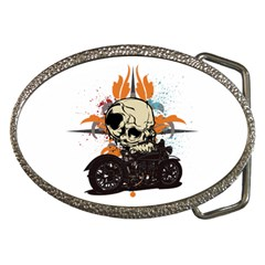 Skull Classic Motorcycle Belt Buckle
