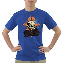 Skull Classic Motorcycle Dark T-Shirt